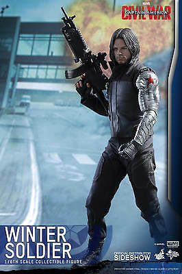 "Marvel Captain America Civil War Winter Soldier 1/6 scale 12"" figure Hot Toys"