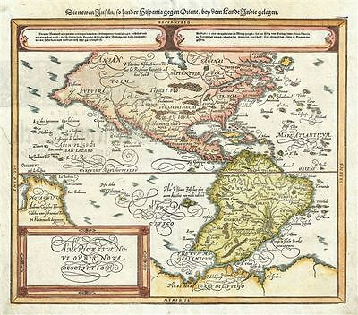 1588 Petri and Munster Map of America
