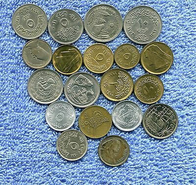 Egypt Lot Of 19 Coins 2 Are Silver Nr 17.95