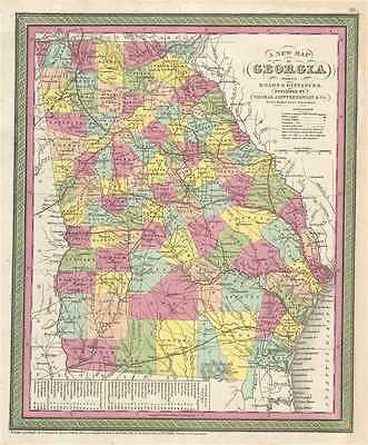 1854 Mitchell Map of Georgia
