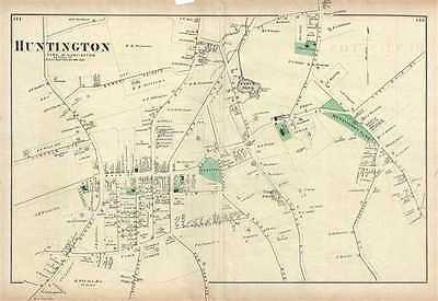 1873 Beers Map of the town of Huntington, Long Island, New York