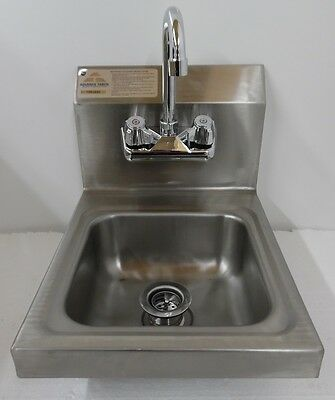 Advance Tabco Hand Sink with Splash Guard 7-PS-23-EC Economy Stainless Steel