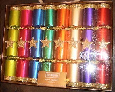 Colorful Christmas New Year Party Crackers Box of 8
