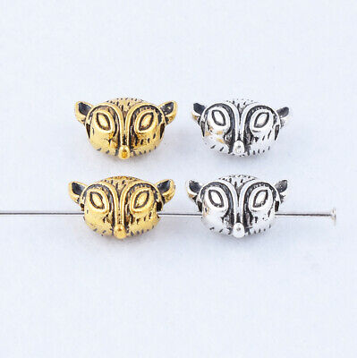 Lot Metal Tibetan silver/Gold Cute Solid Animal Charms Spacer Beads DIY Jewelry