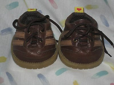 Build a Bear Workshop  Brown Leather Lace Up Tie Shoes - NICE!