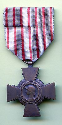 WW1 France Combatant Cross Medal with Ribbon