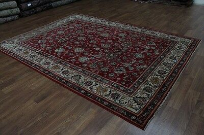 Allover Floral Red Handmade Antique Tabriz Persian Rug Oriental Area Carpet 8X11