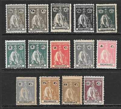 MOZAMBIQUE 1914-1926 CERES Mint Never Hinged Issues Selection (Feb 0060)