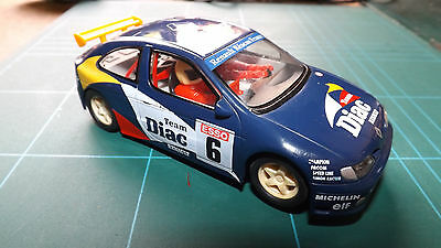 SCALEXTRIC RENAULT MEGANE Car - Complete With Lights & New Rear Tyres !