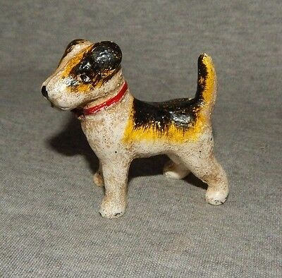 TERRIER DOG CAST IRON PAPERWEIGHT FIGURINE Hand Painted