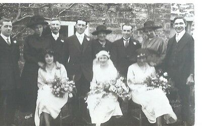 Old Family Wedding View,postcard
