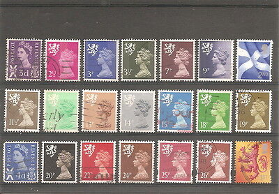 Great Britain   Scotland     21  Fine Used Stamps