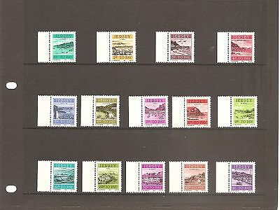 SHEET  OF  JERSEY  to pay stamps full set of mint stamps  1982