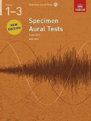 ABRSM Specimen Aural Tests Grades with CD ('s) 1-3, 4-5, 6, 7, &  8 Available