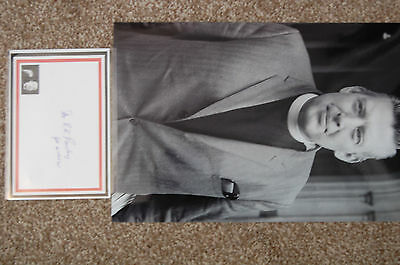 Ian Paisley 12X8 Photo  With Signed White Card