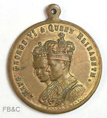 1937 Coronation King George VI & Queen Elizabeth Medal - By Stokes