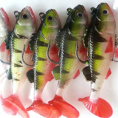 Great Durable Fishing Lures Sea Soft Bait Lead Artificial Bait Jig Silicon Lure
