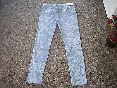 Next Patterned Straight leg Jeans Age 16 yrs