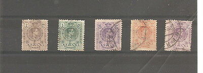 Spain  1920    5 Fine Used Stamps   Old