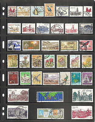A Sheet Of  38  South  Africa    Fine Used   Stamps