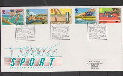 GB 1986 Sports First Day Cover SHS: British Rowing