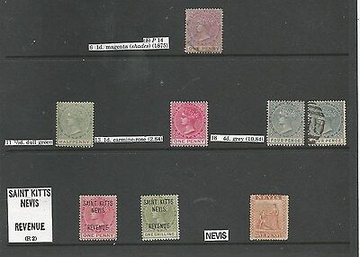 St Christopher /nevis/st Kitts Nevis Qv-Gvi Mint And Used Collection See Scans