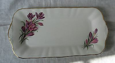 Pretty Oblong Sandwich Plate By Paragon Fine Bone China, England -  Crocus