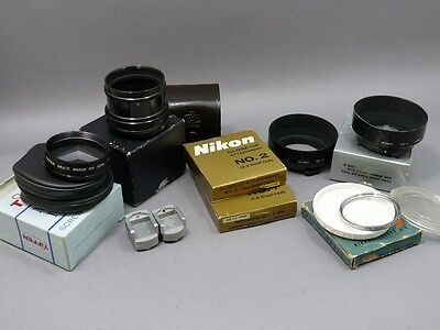Nikon F filters and accessories. See Lot.
