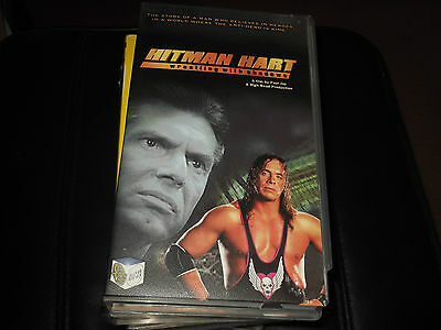 HITMAN HART WRESTLING WITH SHADOWS VHS VIDEO CASSETTE bret,wwf,wwe,vince mcmahon