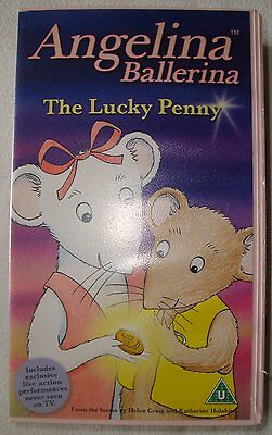 VHS Video Tape for Children: Angelina Ballerina 'The Lucky Penny' (2003, UK PAL)