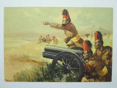Military-Colonial-18Th Artillery-Artist Signed Tafuri-Ob2-S49828