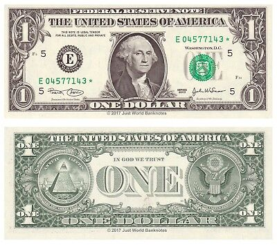 United States USA 1 Dollar 2003 Series E (Richmond) Star Replacement  Mint  UNC