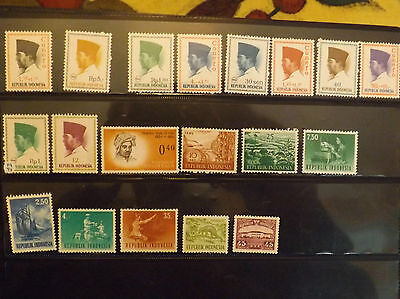Selection of Indonesia stamps MM