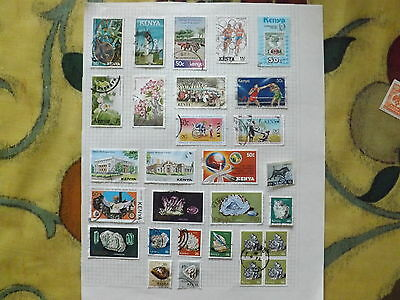 Stamp album page of Kenya used stamps