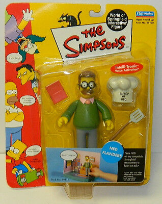 The Simpsons Ned Flanders Action Figure with Voice Playmates 2000 NEW SEALED