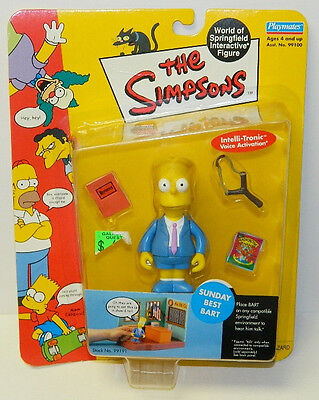 The Simpsons Sunday Best Bart Action Figure with Voice Playmates 2000 NEW SEALED
