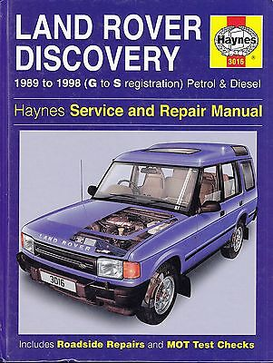 LAND ROVER DISCOVERY 1989-1998 (G to S) HAYNES MANUAL 3016 PETROL & DIESEL
