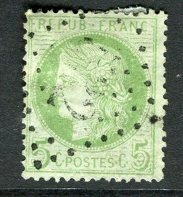 FRANCE;   1870s early classic Ceres issue 5c. used, value fair Postmark
