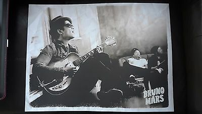 BRUNO MARS rare FAN CLUB ONLY limited edition print Doo-Wops & Hooligans