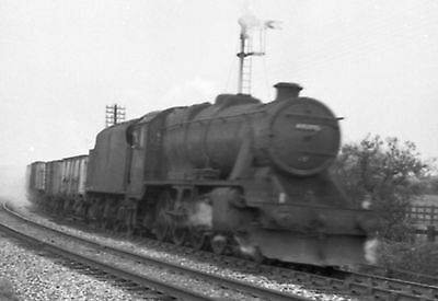 50Mm Black White Negative Railway Steam Loco Lms Stainer With  Snow Ploughs
