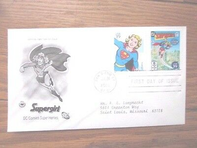 Supergirl Dc Comics Superhero 2006 Set   Pcs Cachet Fdc