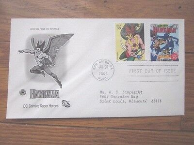 Hawkman Dc Comics Superhero 2006 Set   Pcs Cachet Fdc