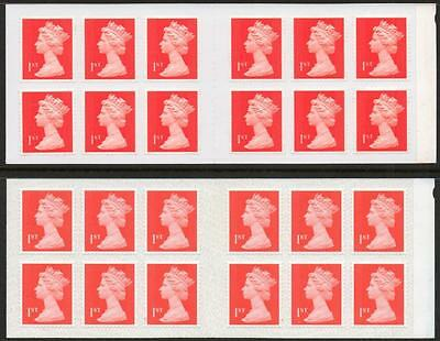 SELF-ADHESIVE 1st CLASS RED MACHINS BOOKLET, CLEVER FORGERY