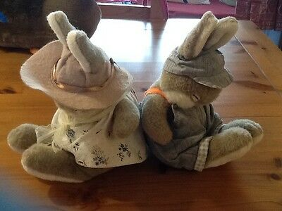 Mr And Mrs Bunny Vintage Soft Toy Bundle. Bunnies. Rabbit.