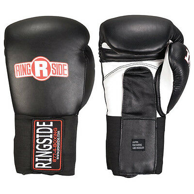 Ringside IMF Tech Hook and Loop Sparring Boxing Gloves - Black