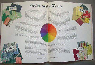 1940's Singer Home Decorator Guide curtains slipcovers Color choices