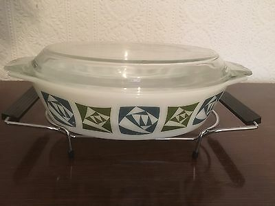 Vintage Pyrex Lidded Dish With Stand