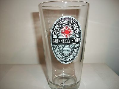 W.e. Johnson & Co. Guinness's Stout Liverpool- Beer Glass