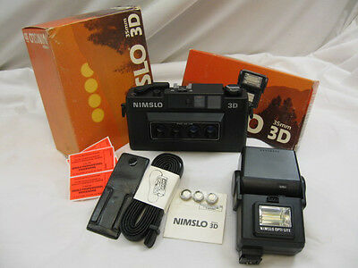 Vintage Nimslo 3D Camera With Flash , Never Used