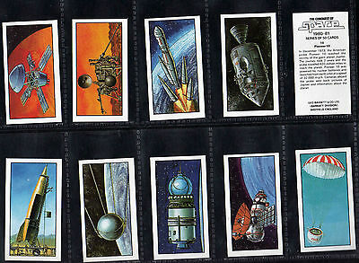 Cigarette/Trade cards, The Conquest of space, Bassett, mint